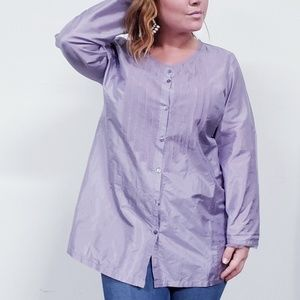 Eileen Fisher Lilac Purple Silk Blouse